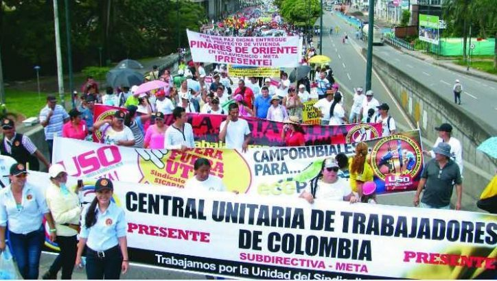 Image for Colombia to stage national strike on 25 April