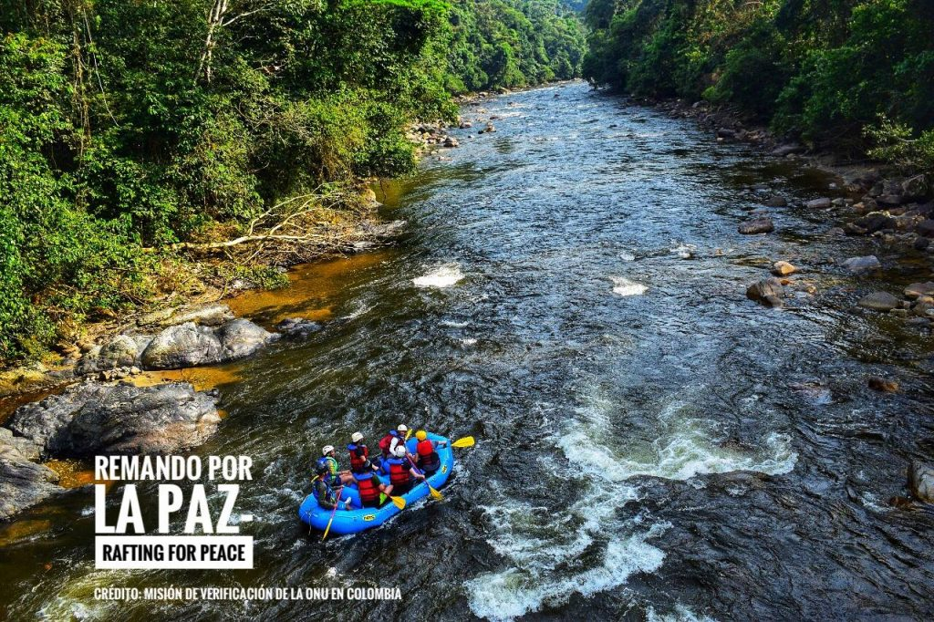 Image for FARC peace team in Australia for World Rafting Championships