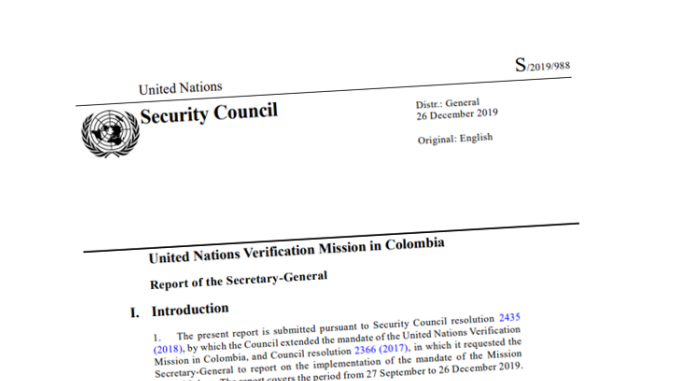 Image for UN Mission Report – December 2019