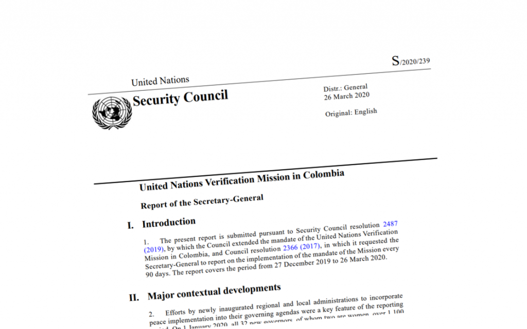 Image for UN Mission Report – March 2020