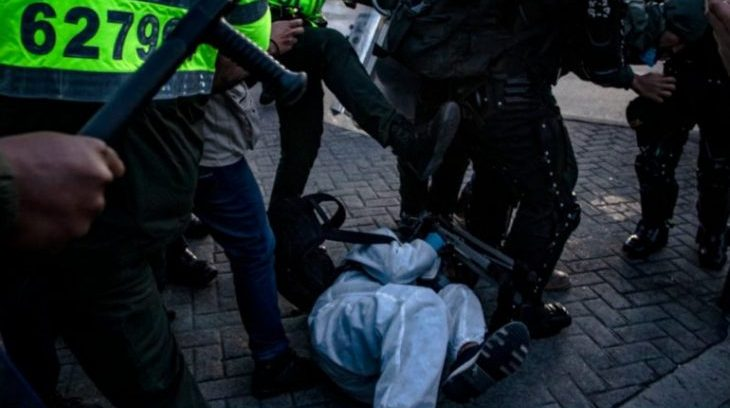 Image for Colombian security forces violently repress protests and attack journalists