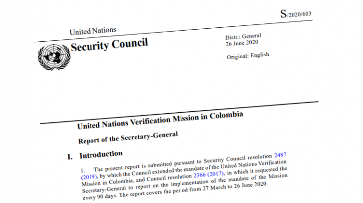 Image for UN Mission Report – June 2020