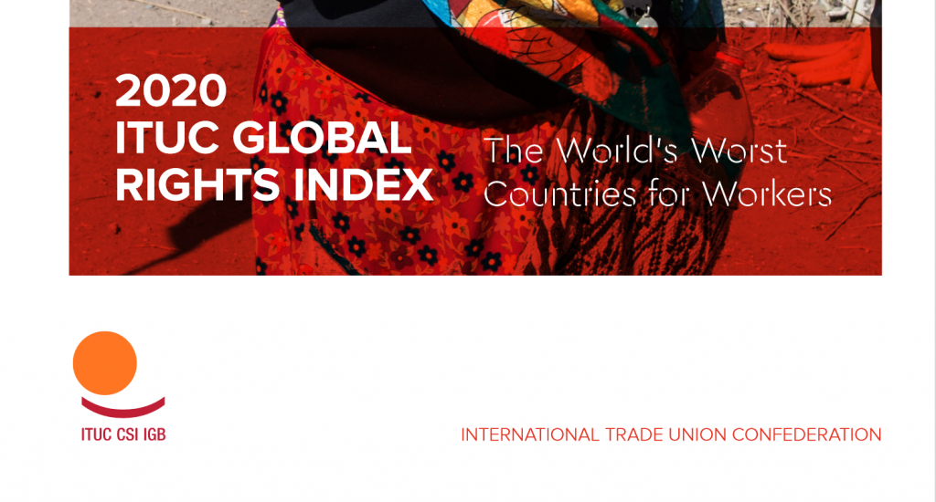 Image for ITUC Global Rights Index – 2020