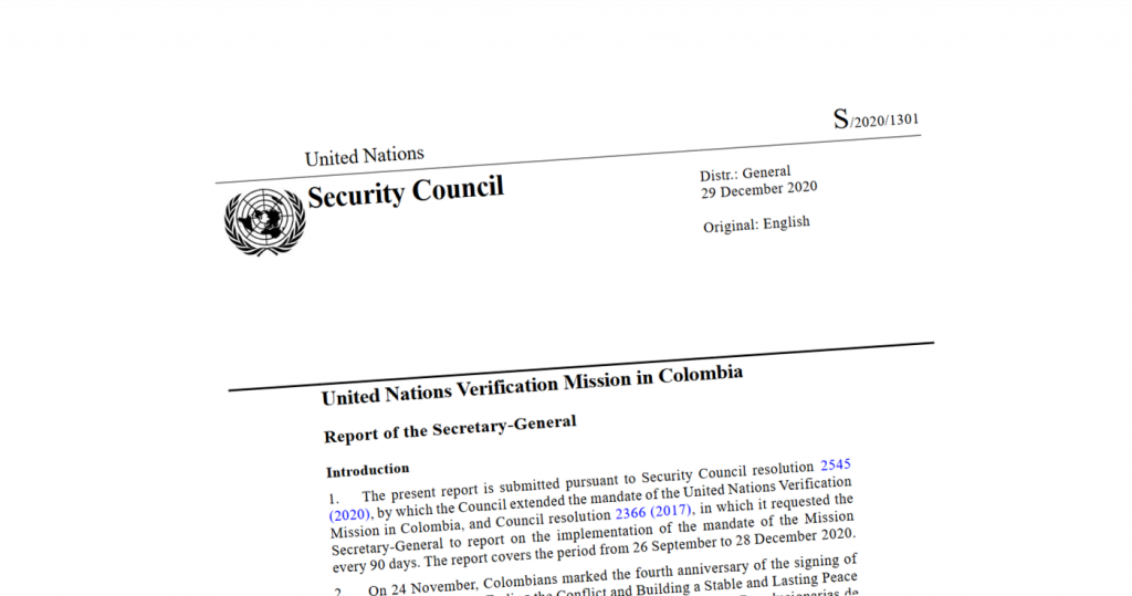 Image for UN Mission Report – January 2021
