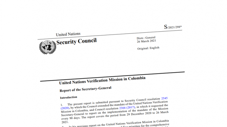 Image for UN Mission Report – March 2021