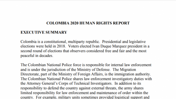 Image for U.S. State Department Report – March 2021