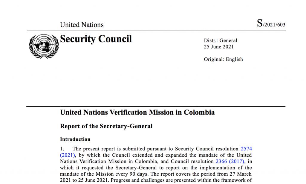 Image for UN Mission Report – June 2021
