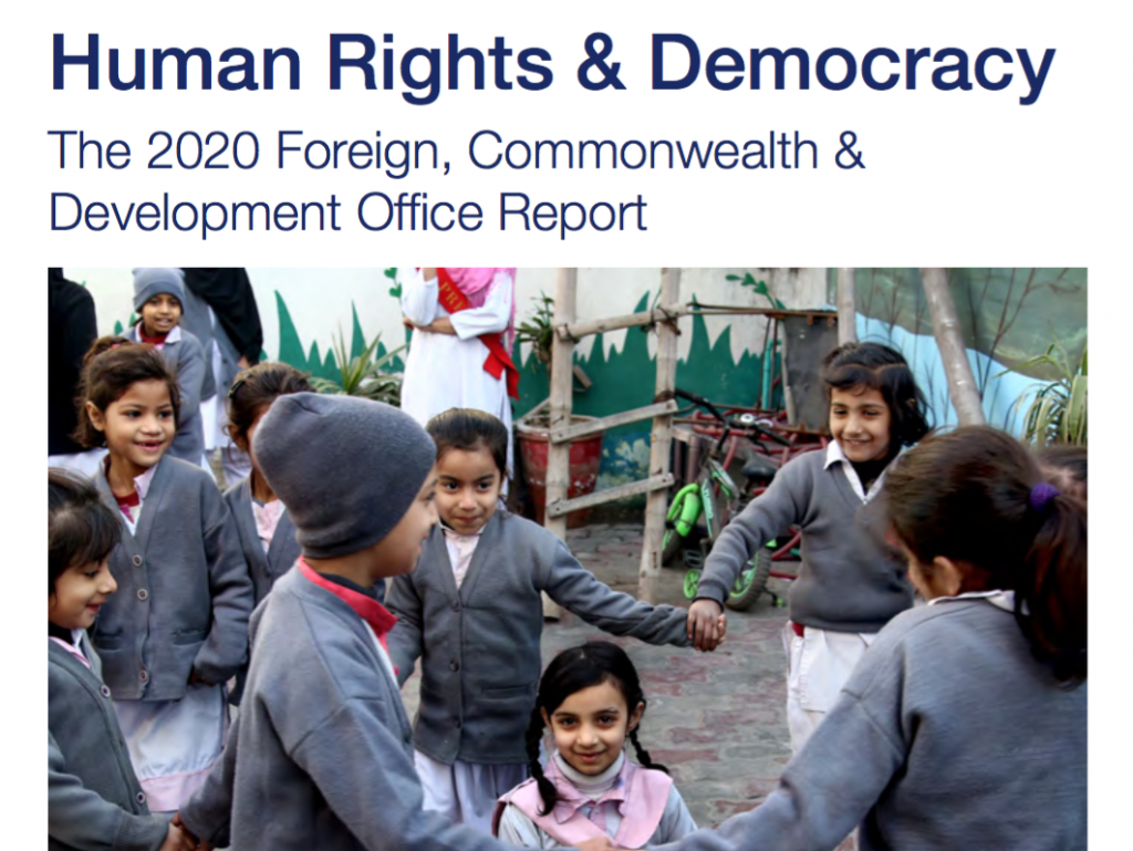 Image for UK FCDO 2020 report: major concern over human rights in Colombia